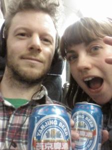Joe, Rachel and some beer