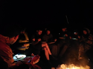 Campfire food and song